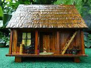 Doll House Miniature Doll From House Of Broel Cajun Cottage Wooden Purse