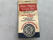 Boys Athletic League Vintage 1950's Air Mail Stickers Booklet
