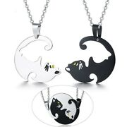 Pendant Beloved Cat Pet Cute His Her Couples Necklaces Stainless Steel Beloved