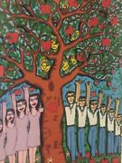 James Rizzi Original 3d Apple Doesnand039t Fall Far From Tree Handsigniert