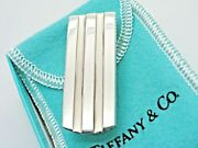And Co. Sterling Silver 21 Gram Atlas Groove Money Clip In Pouch And Box