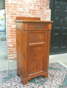 English Antique Art And Craft One Door And 1 Drawer Small Cabinet