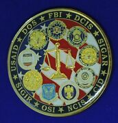 Fbi Afosi Dcis Ncis Cid International Contract Corruption Tf Challenge Coin M-10