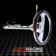 Chrome 28 Auto Steering Column And 14 Gaap Steering Wheel And Smooth Horn Button