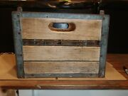 Vintage Quality Checked Wooden Wood Milk Bottle Crate Box Approx 15x12x11
