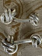 And Co. Sterling Silver Twist Rope Knot Cuff Links No Pouch