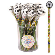 Football Pencils With Topper Perfect For Party Bags Uk Stock