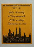 Wps Ny Gala Assembly 1951 Event Souvenir Label Ad