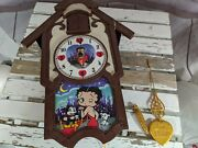 Collectible Rare Danbury Mint Betty Boop Cuckoo Clock 2008 As Is Working