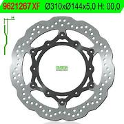 9621267xf - Floating Wavy Brake Disc 1267xf Andoslash Compatible With Triumph Mr. Brown