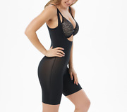 Spanx Trust Your Thinstincts Open-bust Bodysuit,very Black,size Small,a302983