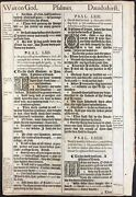 1611 King James Bible Leaf Ps 62 He Only Is My Rock And Salvation 1613/11 And039sheand039