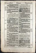 1611 King James Bible Leaf Ps 62 He Only Is My Rock And Salvation 1st Ed 1st Is.