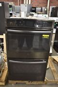 Ge Pt7550blts 30 Black Stainless Double Electric Wall Oven Nob 49493 Hrt