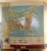 Vintage Cramand039s Asia Pull Down Map