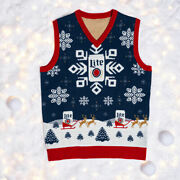 Miller Lite Beer 2019 Ugly Christmas Sweater Vest Size Xl - Brand New In Bag