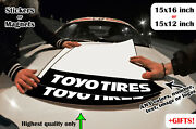 2x Toyo Tires Door Number Plates Track Boards Decal Sticker T1r R888r Proxes