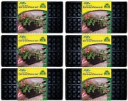 6 Pack Jiffy T72h 72 Cell Greenhouse Plant Seed Starter Tray Kit 11x22