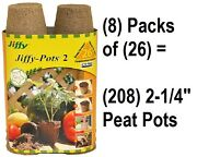 8 Ea Jiffy Jp226 26 Pack 2-1/4 Round Seed Starting Peat Pots