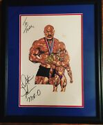 18x22 Hand Sketched Origart Autographed Mr Olympia Dexter Jackson By Artisttonyk