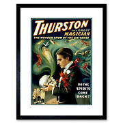 Thurston The Great Magician Vintage Advert Framed Wall Art Print