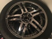 """chrome 22"""" Universal Truck/suv Rims And Tires 4 Good Used Condition"""