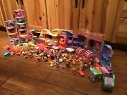 Huge Lot Of Littlest Pet Shop W/ Pets And Accessories