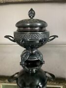 Simpson Hall Miller And Co Silver Plate Serving Bowl Soup Tureen Dish