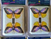 Butterfly Room Decor Light Switch Plates Single Toggle Wallplate Set Of 2