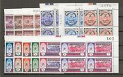 Muscat And Oman 1971 Sg 122/33 Mnh Blocks Cat Andpound1200