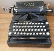 1911 Royal Standard No-1 Typewriter With Serial 64388 - Working Condition