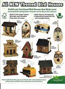 Themed Bird Houses - Stylish And Functional W/ Wood From Well Managed Forests 11 S