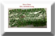 Green Color Non O-ring Drive Chain Pitch 520 X 120 Links Atv Motorcycle