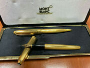 Solitaire Ballpoint And Fountain Pen Set Gold Color