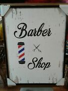 Vintage Style Barber Shop Rustic Aesthetic Painting