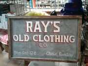 Vintage Rays Old Clothing Co Materials Are Metal And Wood Rustic Survived Katrina