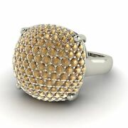 Certified Natural Brown Diamond Sugar Stack Ring In 14k Solid White Gold 1.66 Ct