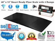 48 X 72 4x6 Smart Ready Floor Scale With 2 Ramps / Pallet Size 1000 X .2 Lb