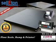 New 48 X 72 4' X 6' Heavy Duty Floor Scale With Ramp And Printer 5,000 X 1 Lb