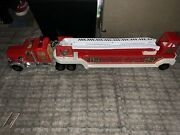 Vintage Tonka Metal 1 Hook And Ladder Firetruck And Trailer, U.s.a. In V. G. C.