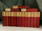 Antique French History Books Memoirs Royalty Letters Decor Shabby Chic Red Linen