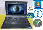 Dell Latitude Notebook- Laptop I5 320gb Webcam Windows 7 Word Included Activated
