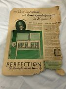 Vintage 1931 New Perfection Oil Burning Stove Advertisement