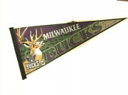 Vintage Milwaukee Bucks Wincraft Full Size Pennant Nba Signed Made In Usa