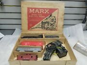 Vintage Marx Toy Train 1960and039s Steam Engine Antique Cars O Guage Antique Set