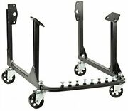 New Engine Cradle Stand Bbc Chevy And Sbc Chevy V8 With Cast Iron Wheels Black