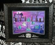 Disney Framed Limited Ed Pin Set Haunted Mansion Friday 13th Eve Of Valentineand039s