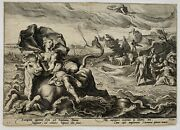 The Rape Of Europa Engraving After Hendrick Goltzius C.1590 Dutch 16th C.