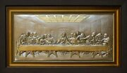Handmade Metal Picture Andquotlast Supperandquot With Gilding