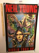 Huge Subway Poster Neil Young 1989 World Tour Poster Rockinand039 In The Free World